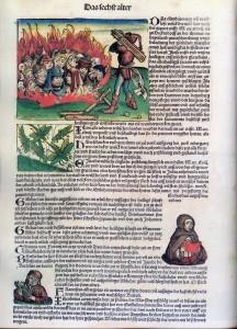 Jews, Nuremberg Chronicle   (1493), Stiftung Weimarer Klassik, Herzogin Anna Amalia Bibl., Sign. Inc. 119, f. 230v