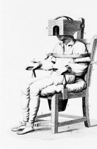 'The Tranquillizer' was a tranquilising chair invented by Benjamin Rush in 1811 Courtesy of the US National Library of Medicine, Bethesda, Maryland