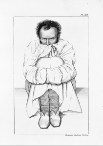 Maniac in a strait-jacket, in a French asylum. Credit: Wellcome Library, London. Wellcome Images images@wellcome.ac.uk http://wellcomeimages.org