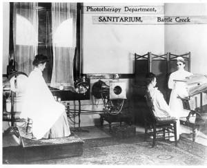Phototherapy at the Battle Creek Sanitarium Courtesy Willard Library Photo Archive, Evansville