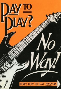 Campaign flyer for the Musicians Union