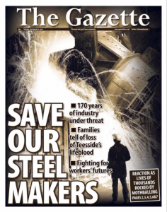 Front Page, The Gazette, 29th September 2015